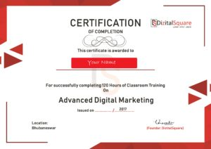 Digital Marketing Certificate DizitalSquare