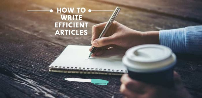 How to Write Articles – Basic Steps and Easy Formatting Tips