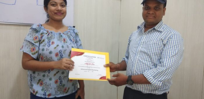 Testimonial from Adyasha – Digital Marketing Training