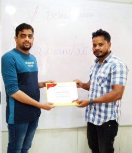 Krushna certification 1