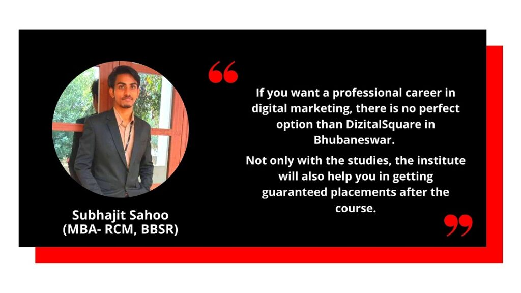 Subhajit Testimonial for Digital Marketing course