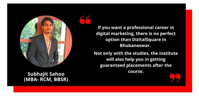 Testimonial from Subhajit- Digital Marketing Course