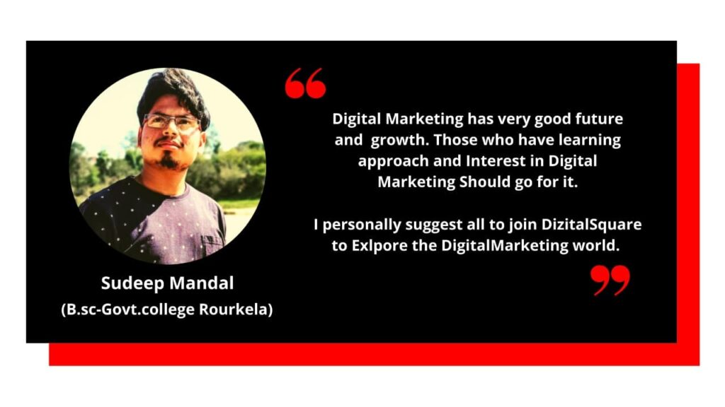 Sudeep Testimonial on Digital Marketing Course