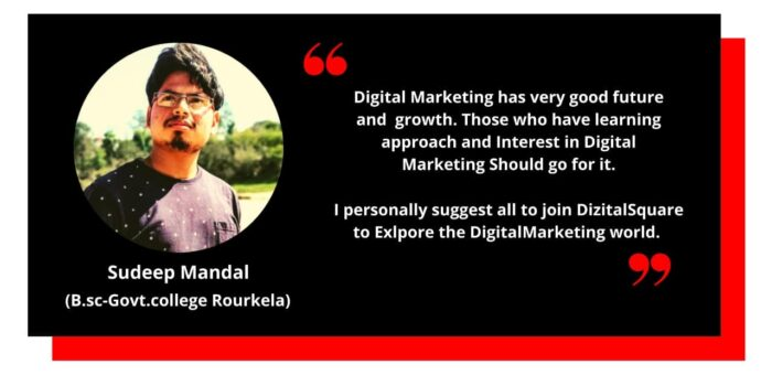 Testimonial from Sudeep, Completed his Digital Marketing Training