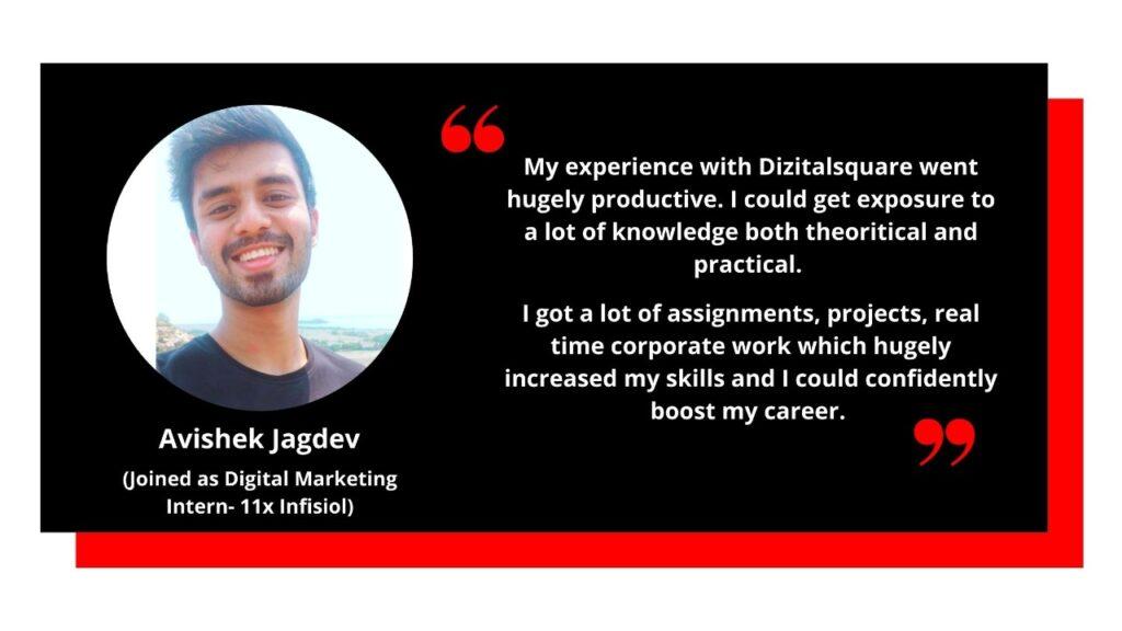 Digital Marketing Testimonial from Avishek